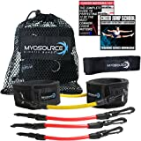 Cheer Kinetic Bands - Flexibility Fitness Training Kit for Cheerleaders - Leg Resistance Bands, Stunt Strap, Digital Training Downloads