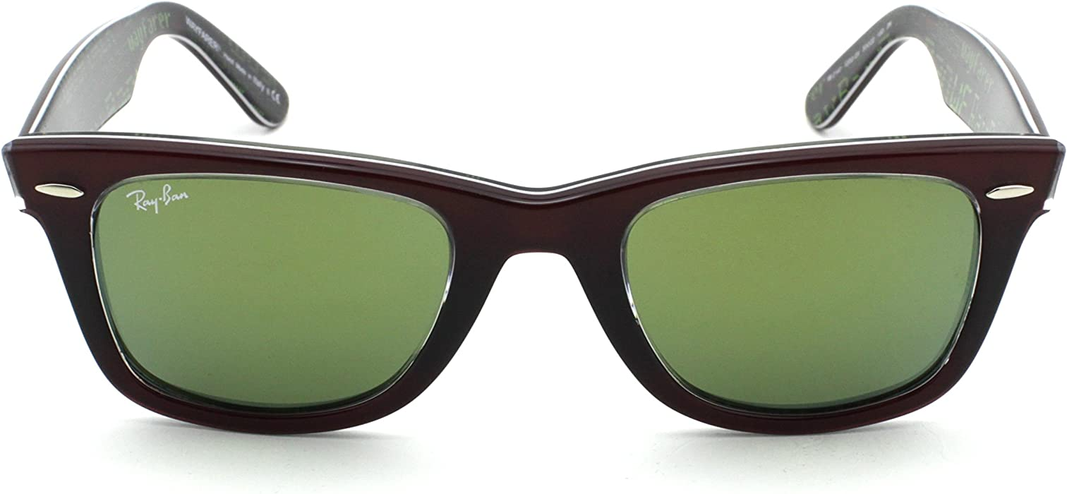 c8c68cf787 Rb2140 Wayfarer. Ray-Ban RB2140 12022X Wayfarer PIXEL Red Frame   Green  Mirror Lens 50mm