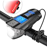LED Bike Light Cycle Headlight With Speedometer Odometer Z0Q5