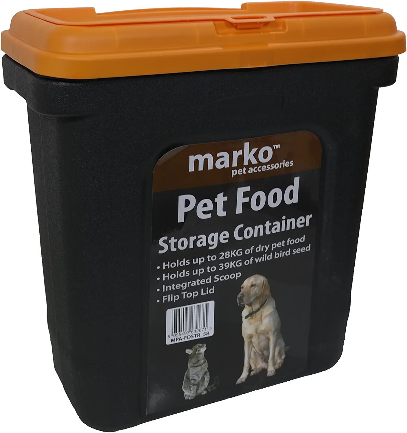 28kg Pet Dry Food Storage Container Dry Box Tub Dog Cat Bird Fish