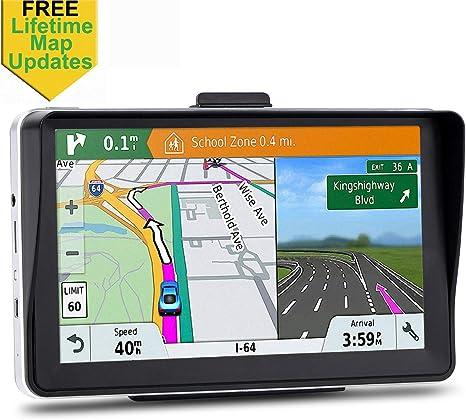 GPS para Coche de 7 Pulgadas, Sistema de navegación para Autos, actualizaciones, Pantalla táctil, dirección de Voz Real, Sat Nav: Amazon.es: Electrónica