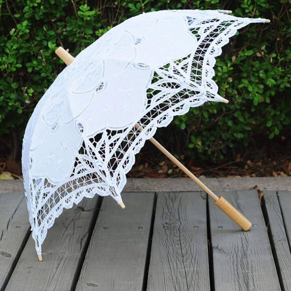 ESHOO Lace Umbrella Parasol Children Costume Accessory Photograph by ESHOO