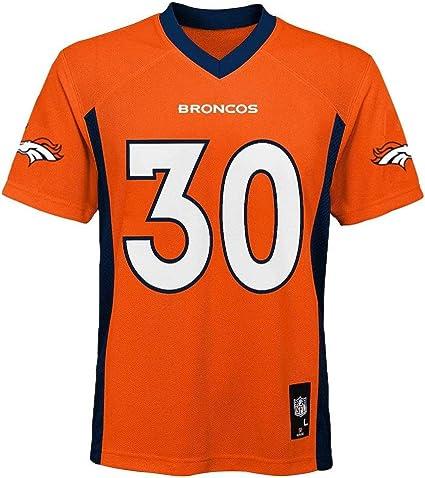 Outerstuff Phillip Lindsay Denver Broncos #30 Orange Toddler Mid Tier Home Jersey