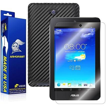 ArmorSuit ASUS MeMO Pad HD 7 ME173X 7-Inch Tablet Screen Protector  MilitaryShield + Black Carbon Fiber Skin Wrap Back Film Protector For ASUS  MeMO Pad