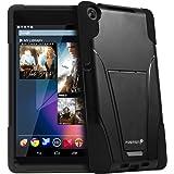 Fosmon hybo-v DetachableハイブリッドTpu + Pcキックスタンドケースfor Google Nexus 7FHDタブレット(第2世代、2013) TGEL85032