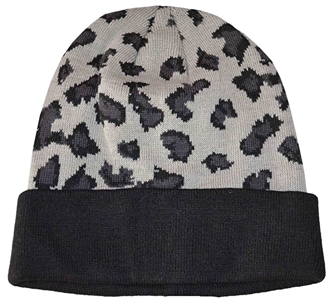 44a66bab033 Epoch Women s Camouflage Beanie Knit Hat (Black Gray) at Amazon ...