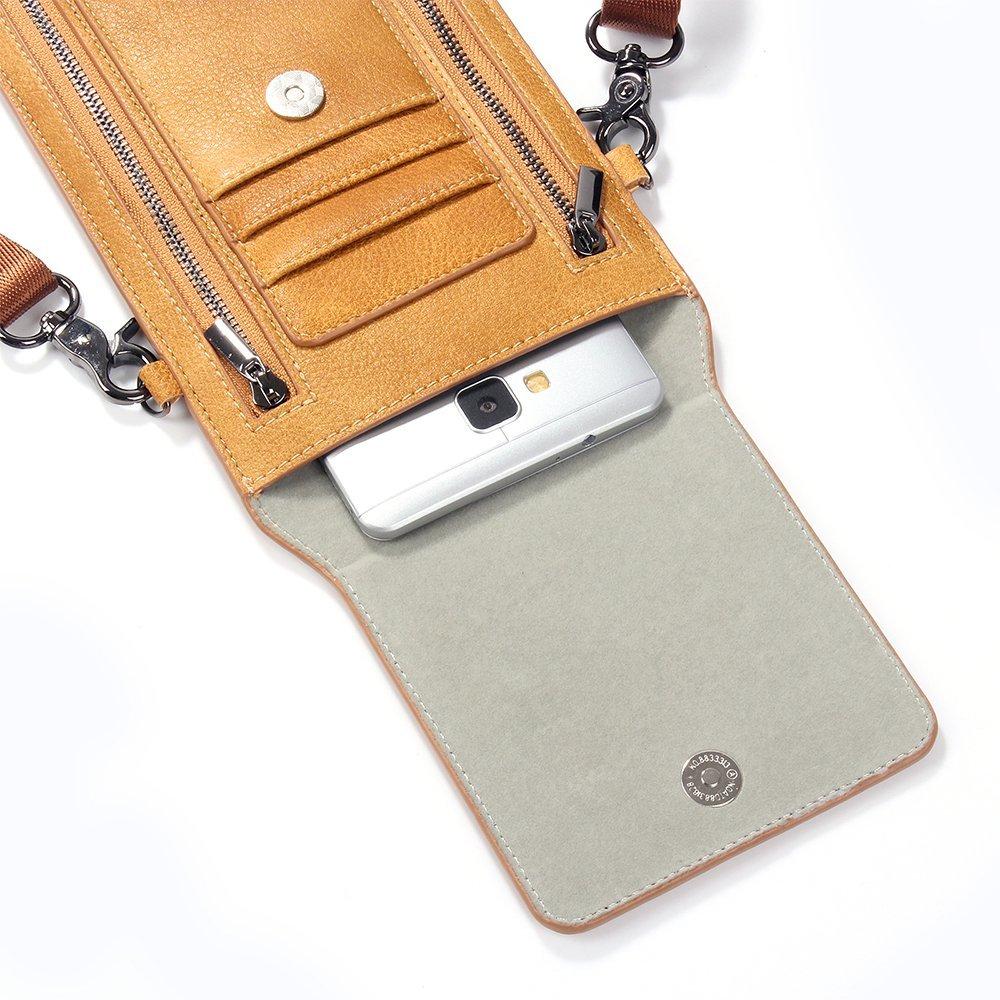 Amazon.com: Funda de piel tipo cartera para Samsung Galaxy ...