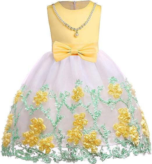 Flor De Boda Del Vestido De Niña Vestido bordado de malla vestido ...
