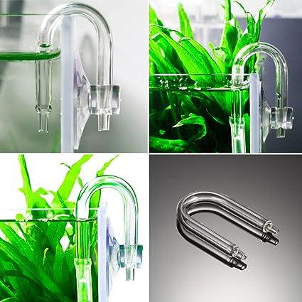 Amazon.com : aquario acuarios Aquarium Accessories U Shape CO2 Diffuser Check Valve Glass Tube Suction Cup For Tube co2 Regulator : Everything Else