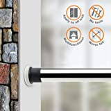 ALLZONE Tension Shower Curtain Rod, 43-84Inch, Brushed Stainless Steel