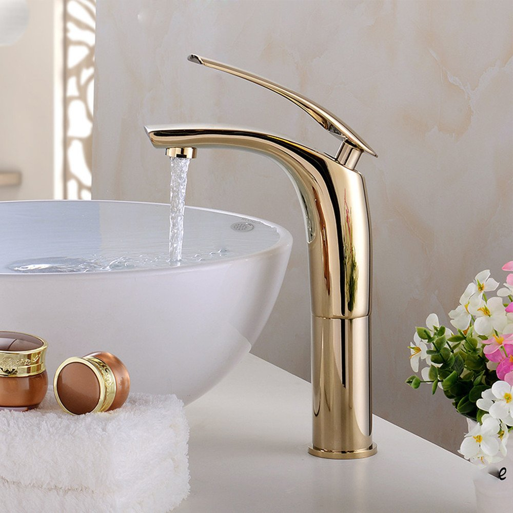 M Hlluya Professional Sink Mixer Tap Kitchen Faucet Basin mixer paint hot and cold full copper washbasin 盆 hand wash basin faucet single hole O