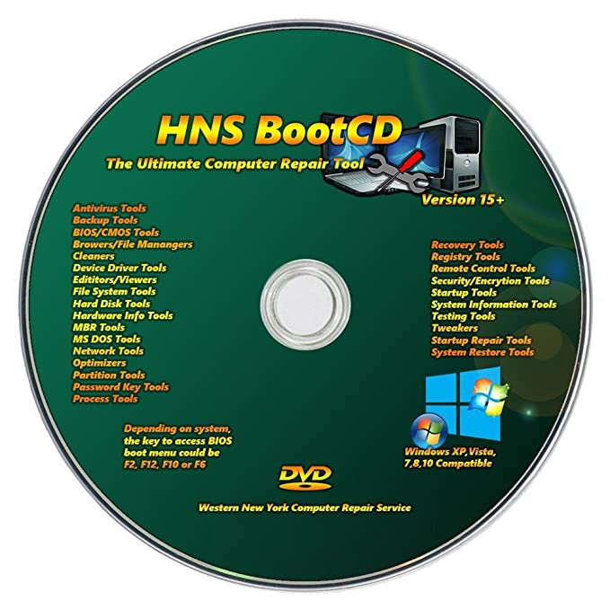 HNS Universal Windows Password Reset CD DVD Disc for Windows 7, Vista, Home  8 1 Win8 Pro XP Windows 10 32 bit 64 bit All Password Recovery