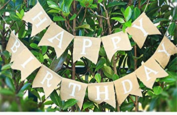 G2PLUS 13 STK Sch/öne Wimpel Girlande S/ü/ße Papier Bunting Wimpelkette Farbenfroh Wimpeln f/ür Drau/ßen Happy Birthday