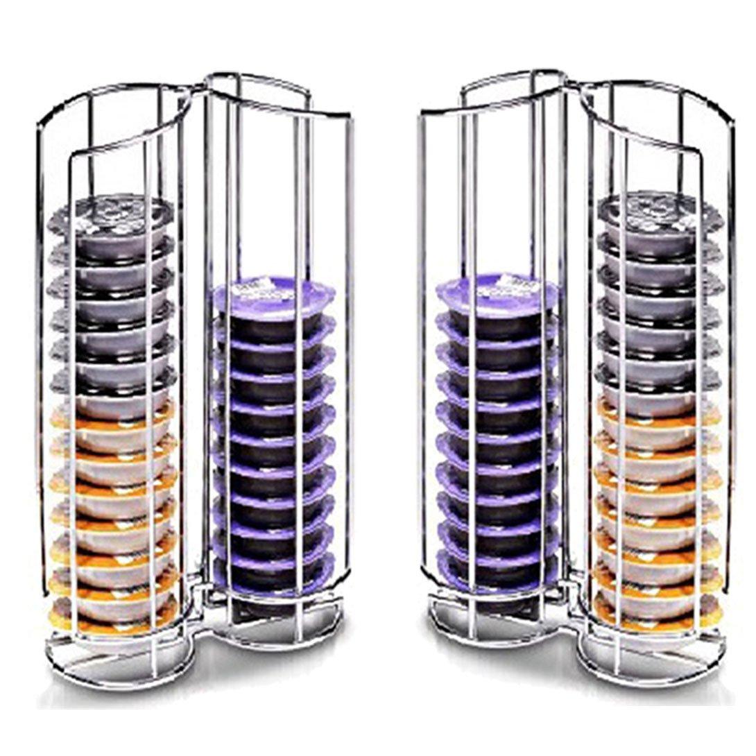 Spares2go 32 T-Disc soporte rack para Bosch Tassimo máquina de café Cápsulas de cápsula (64 Pod dispensadores de torre): Amazon.es: Hogar