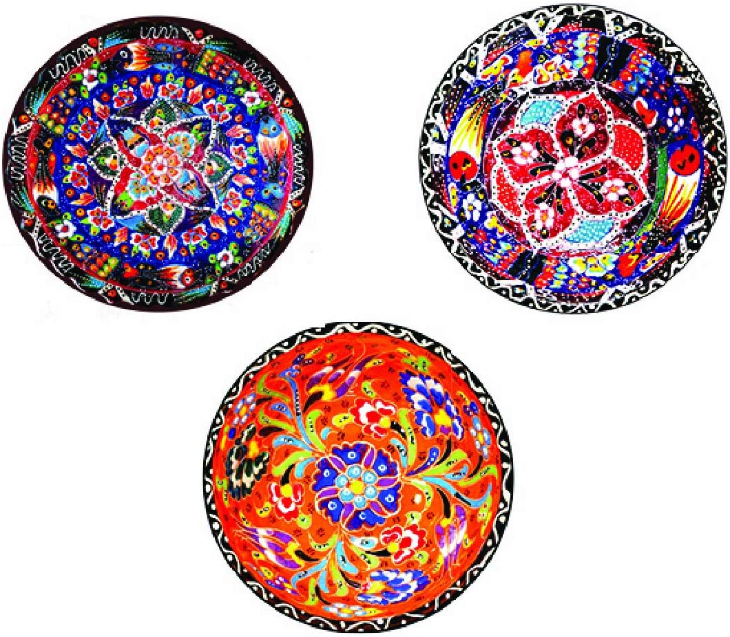 Real Art | Classic Art | Bone China Hanging Plates | 3 Pcs 7