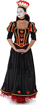 Generique Disfraz Reina de Corazones Mujer XS: Amazon.es ...