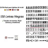 Pack de 130 letras en NEGRO para caja