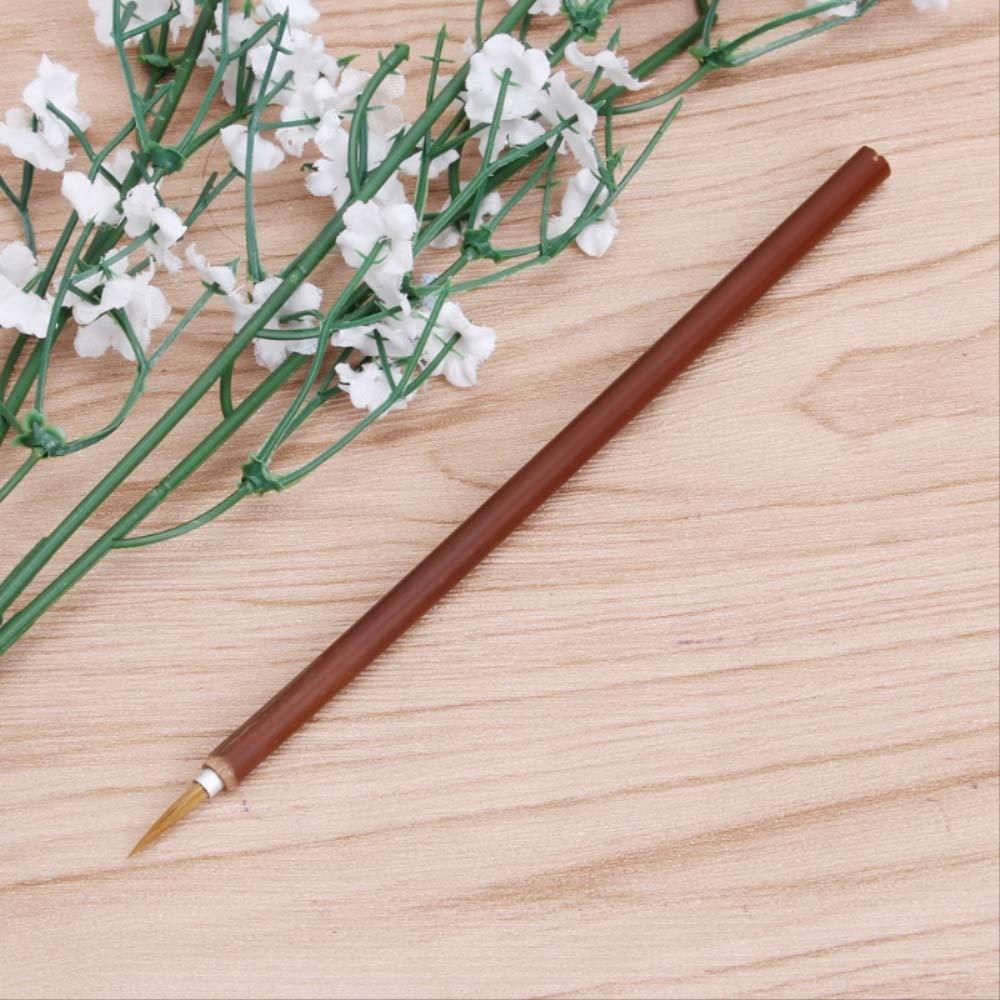 SQWK///Pincel de acuarela Wolf Hair Aquarelle Pincel de pintura Bamboo Artist Pinceles Pincel de cabeza redonda L/ínea Pen Pen Pen