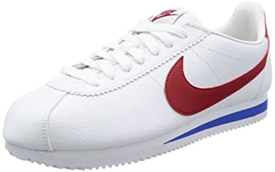 0007f7775b1c Nike Classic Cortez Leather, Chaussures de Running Homme, Blanc (White  Red-Varsity