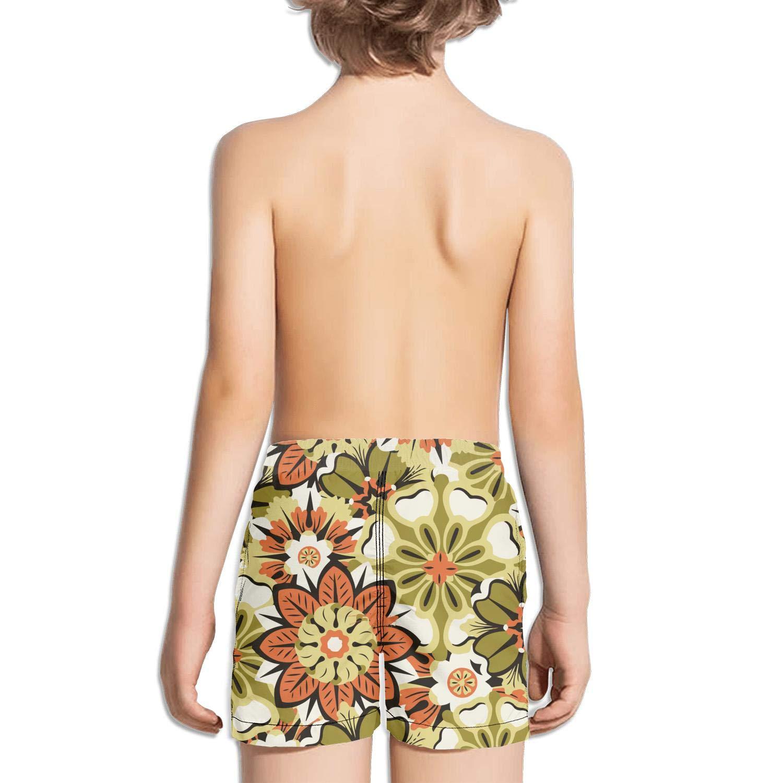 Ouxioaz Boys Swim Trunk I Love Decorative Floral Beach Board Shorts