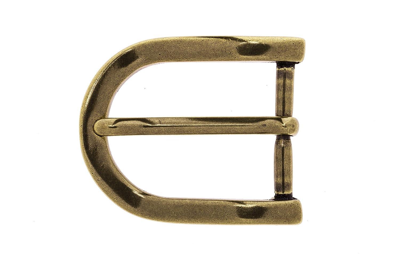 Frederic+Hermano G/ürtelschnalle Buckle 35mm Metall Messing Antik Messingfarben Antik Dornschliesse F/ür G/ürtel Mit 3,5cm Breite Buckle Lancaster