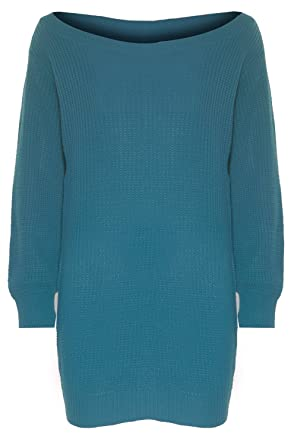54e9a7153009f5 Image Unavailable. Image not available for. Colour  Be Jealous Womens  Ladies One Off The Shoulder Chunky Knit Knitted Oversized ...