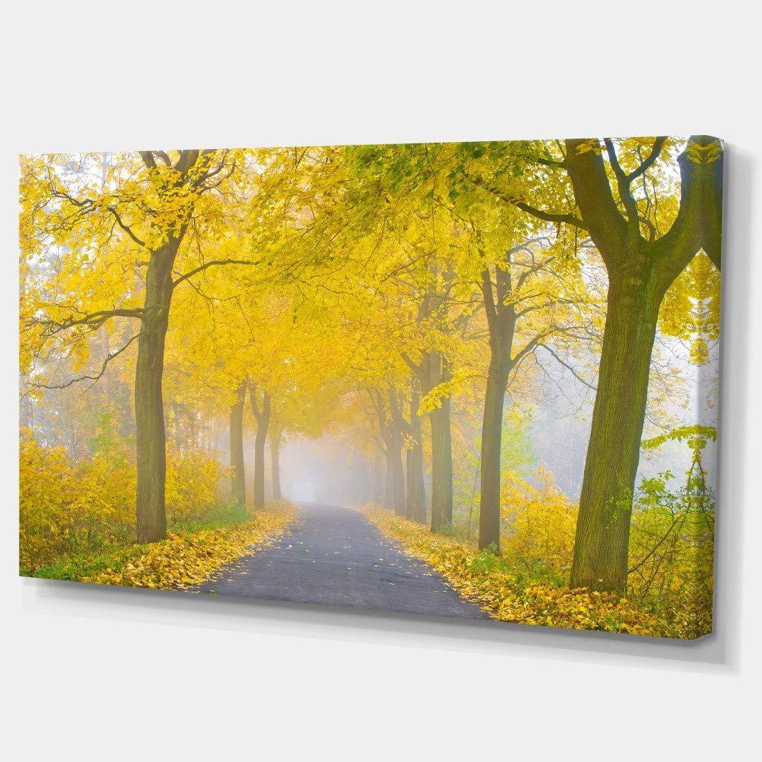 28 H/x/48 W/x/1 D 4P Blue Designart Bright Sun in Misty Mountains-Landscape Photo Canvas Print-48x28 4 Piece