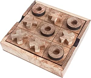 BHAVATU Wood Tic Tac Toe, Board Game, Game for Kids and Family, Home Décor, Living Room Decor, Strategy Board Games for Families .