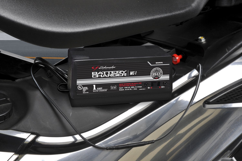 Amazon.com: Schumacher MC-1 6/12 Volt Manual Trickle Battery Charger  ,Black: Automotive