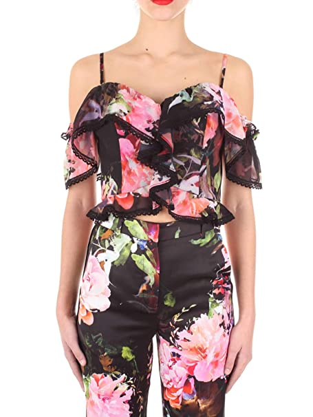 quality design f1468 04348 MARCIANO Top a Fiori Donna Guess 92G479-9014Z: Amazon.it ...