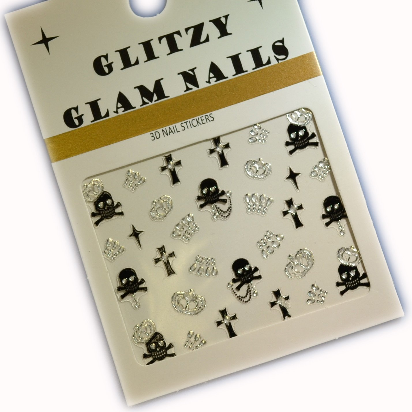 3D Halloween Nail Art Stickers | Inncy Wincy Spiders With Gold Orbs (H3) The Paper Party Company