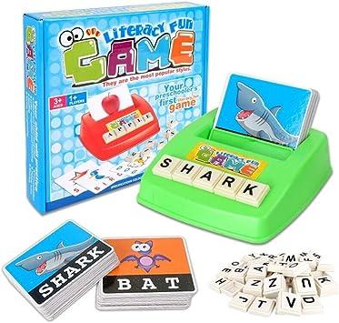 Inglés Ortografía Alfabeto Juego De Cartas Aprendizaje Temprano Juguete Educativo Para Niños,Palabras Construcción Juego de mesa: Amazon.es: Juguetes y juegos