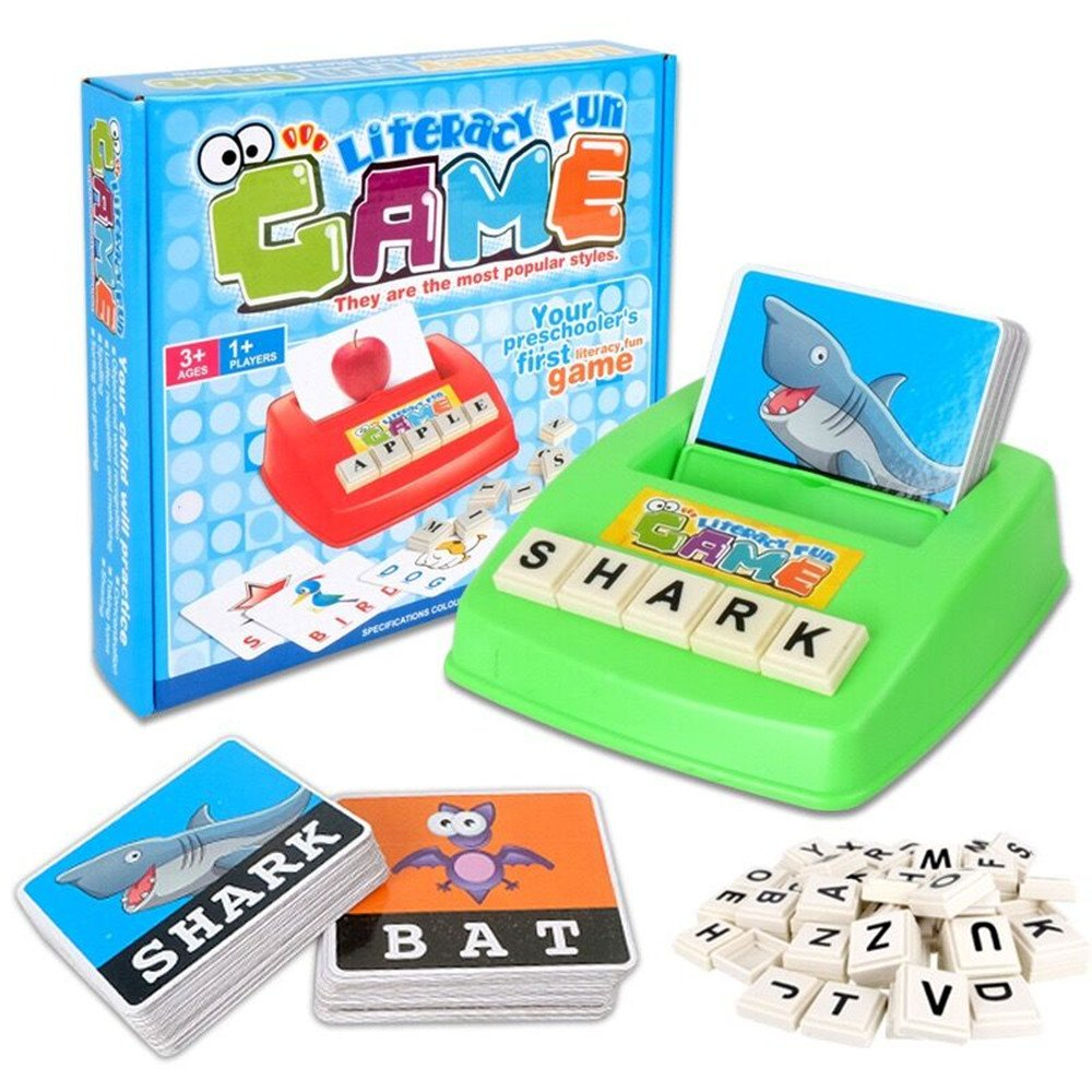 MengTing Alphabet Letter Word Spelling Game Spell Words Board Game for Kids Preschoolers Learning Great Educational Play Set