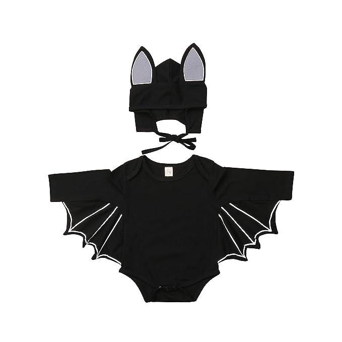 WANGSGOGO - Disfraz de murciélago Negro para bebé Bat Romper with ...