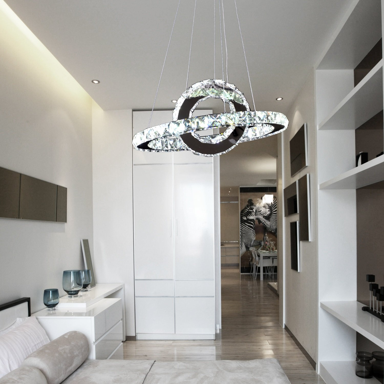 simple chandelier lighting. oofay light led 36w modern crystal chandelier art ring simple dining room lamp and for the living lighting