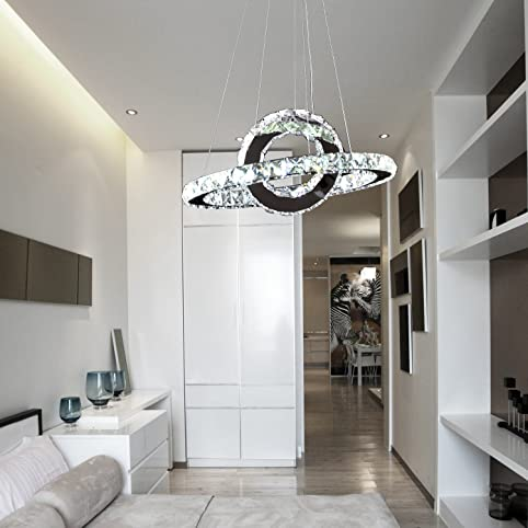 Exceptional OOFAY LIGHT® Led 36w Modern Crystal Chandelier,art Crystal Chandelier,ring  Simple Dining