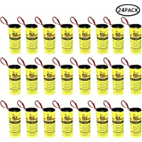Pawaca 32 Rouleaux de Papier Tue-Mouche, Piège Sticky à Insectes, Bandes de Papier Fly, Piège à Insectes Mouche, Moustiques, Mites D'intérieur Ou D'extérieur - Écologique 100% Non Toxique