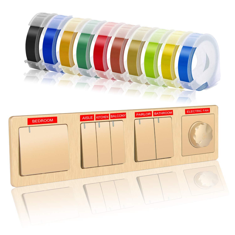 Etiqueta para impresora en relieve compatible con Dymo para hacer ...
