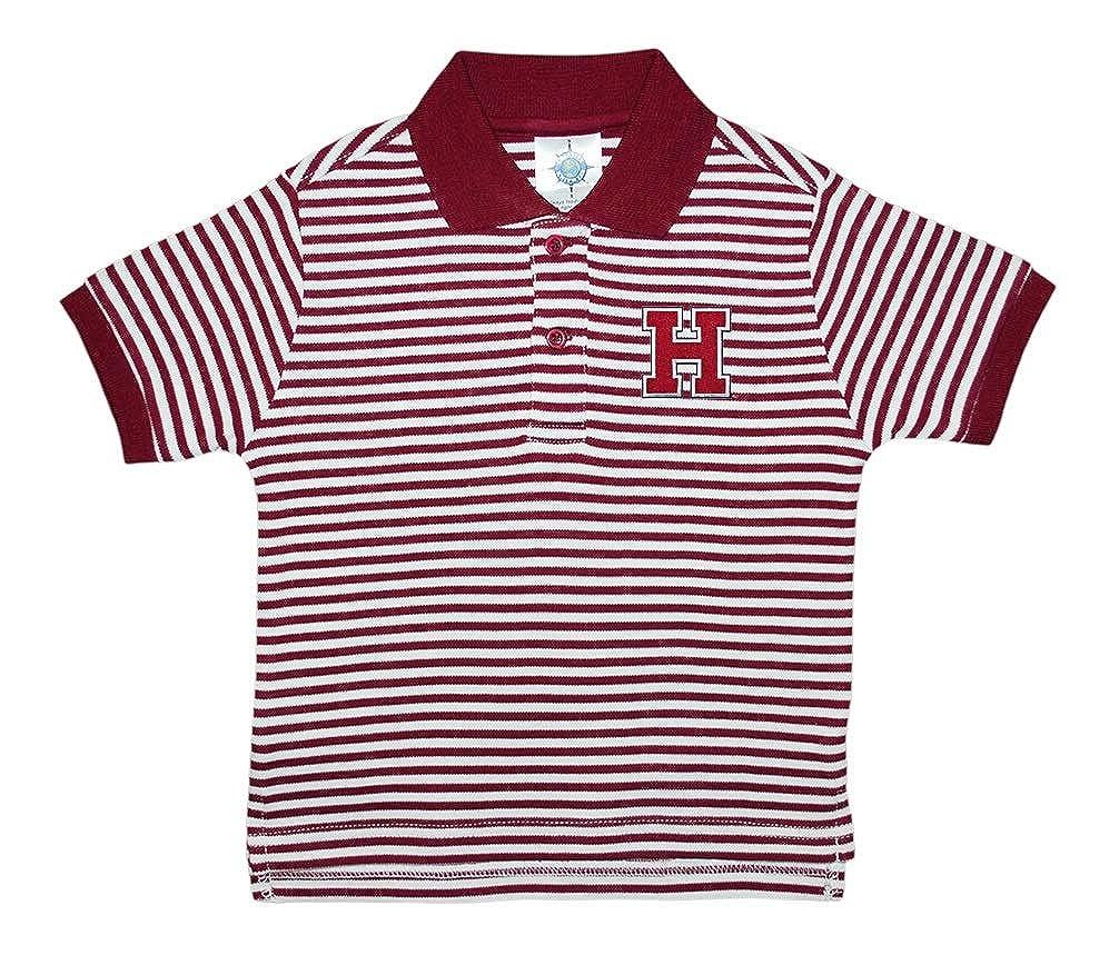 Creative Knitwear Harvard University Striped Polo Shirt