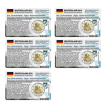 Set 5 Münzkarten Ohne Münze Deutschland Für 2 Euro Gedenkmünzen