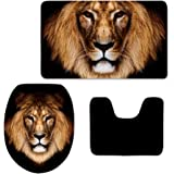 Showudesigns Black Animal Lion Toilet Seat Cover Overcoat Closestool Lid Cover