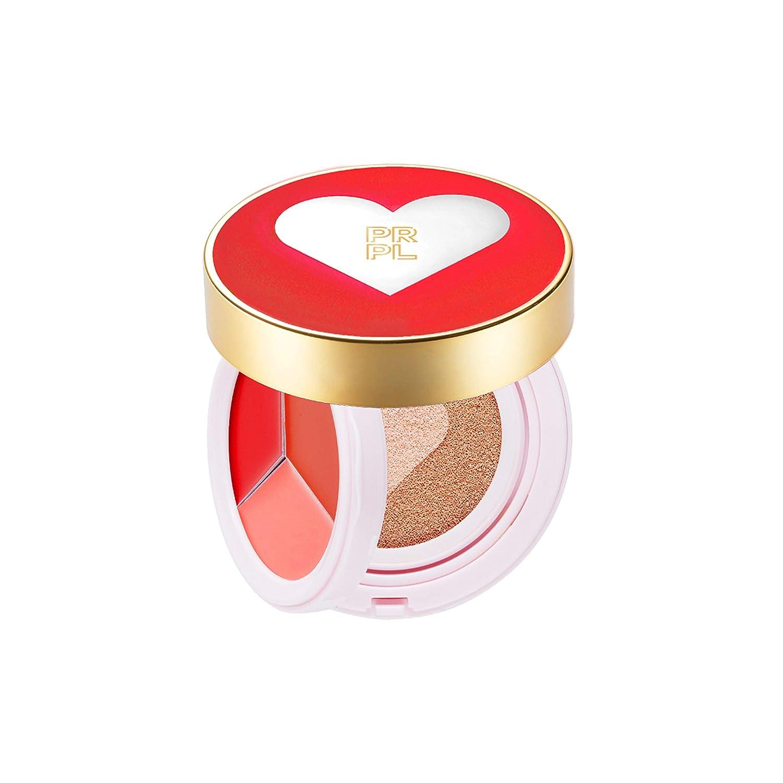 Prpl Kiss Heart Double Cushion Red Edition 23 Pure Beige Korean Make Up Cushion Foundation