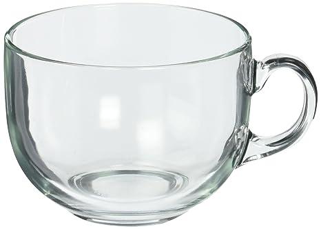 amazon com luminarc jumbo mug 24 25 oz clear set of 4 coffee