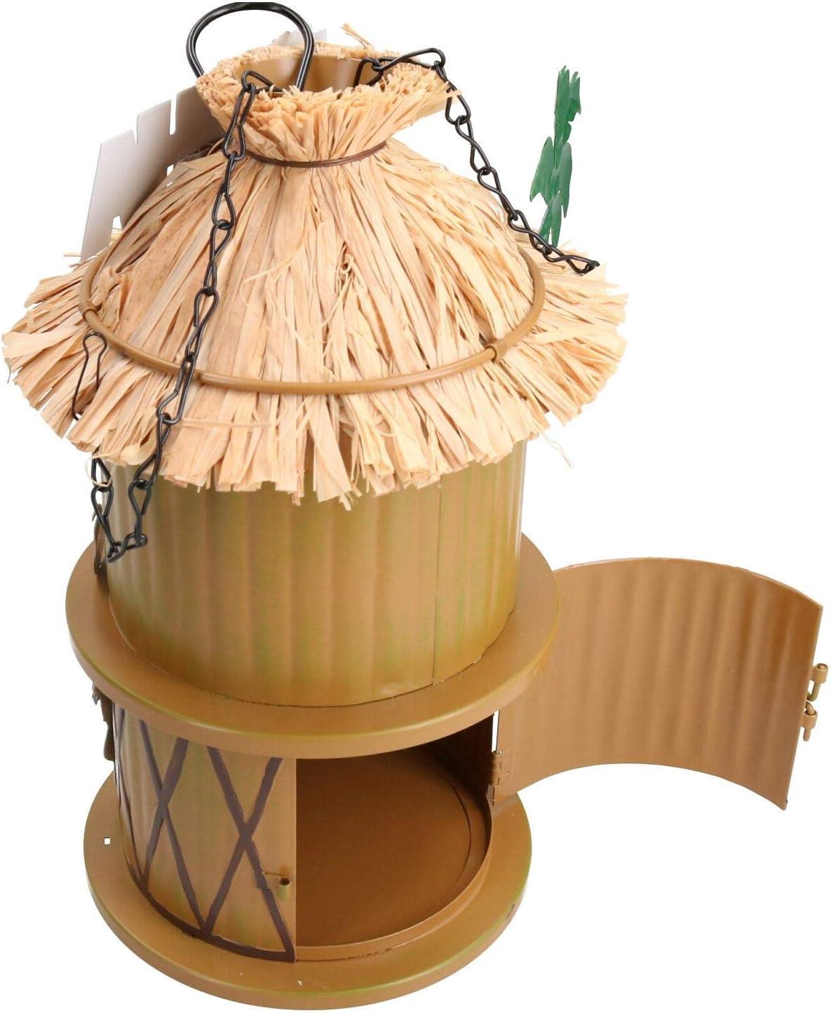 Funky Metal Tiki Bird House For Wild Birds  Garden Decor 14x25cm