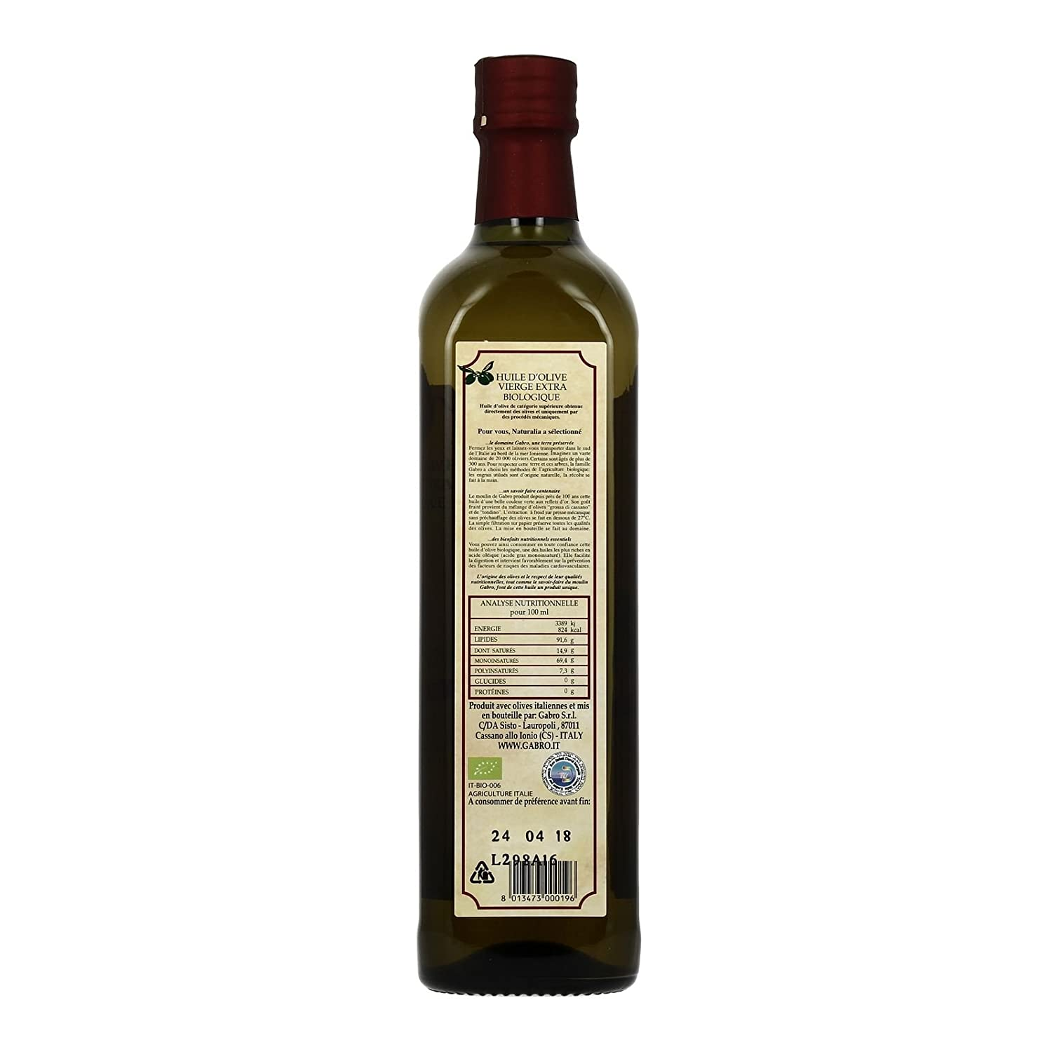 huile olive italienne qualite