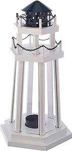Koehler Home Decor Lighthouse Point Wooden Lantern
