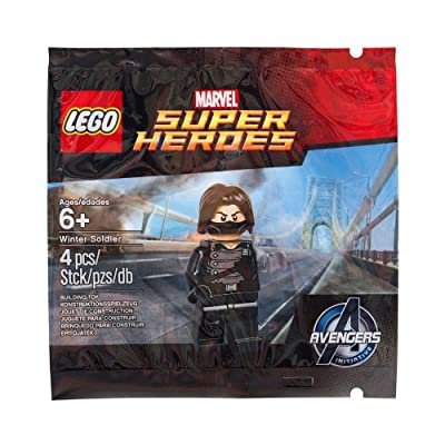 LEGO Winter Soldier Minifigure 5002943 Avengers Marvel Super Heroes New Sealed: Toys & Games