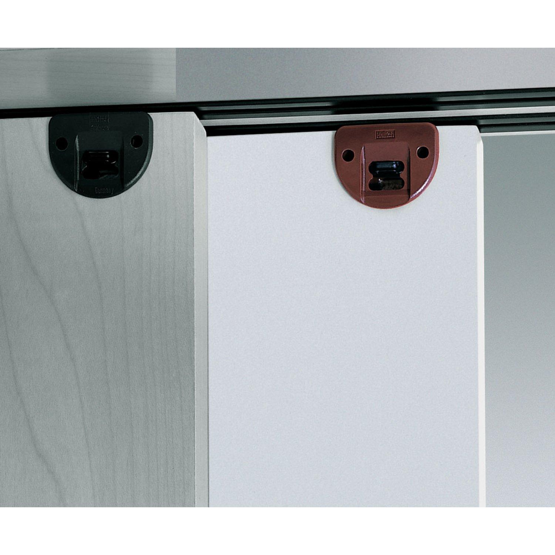 2 pieza Guía pestillos Puerta Corredera de armario Guía notebook unidad riel superior - Modelo Slide Line 55 | plástico marrón | Muebles herrajes de ...