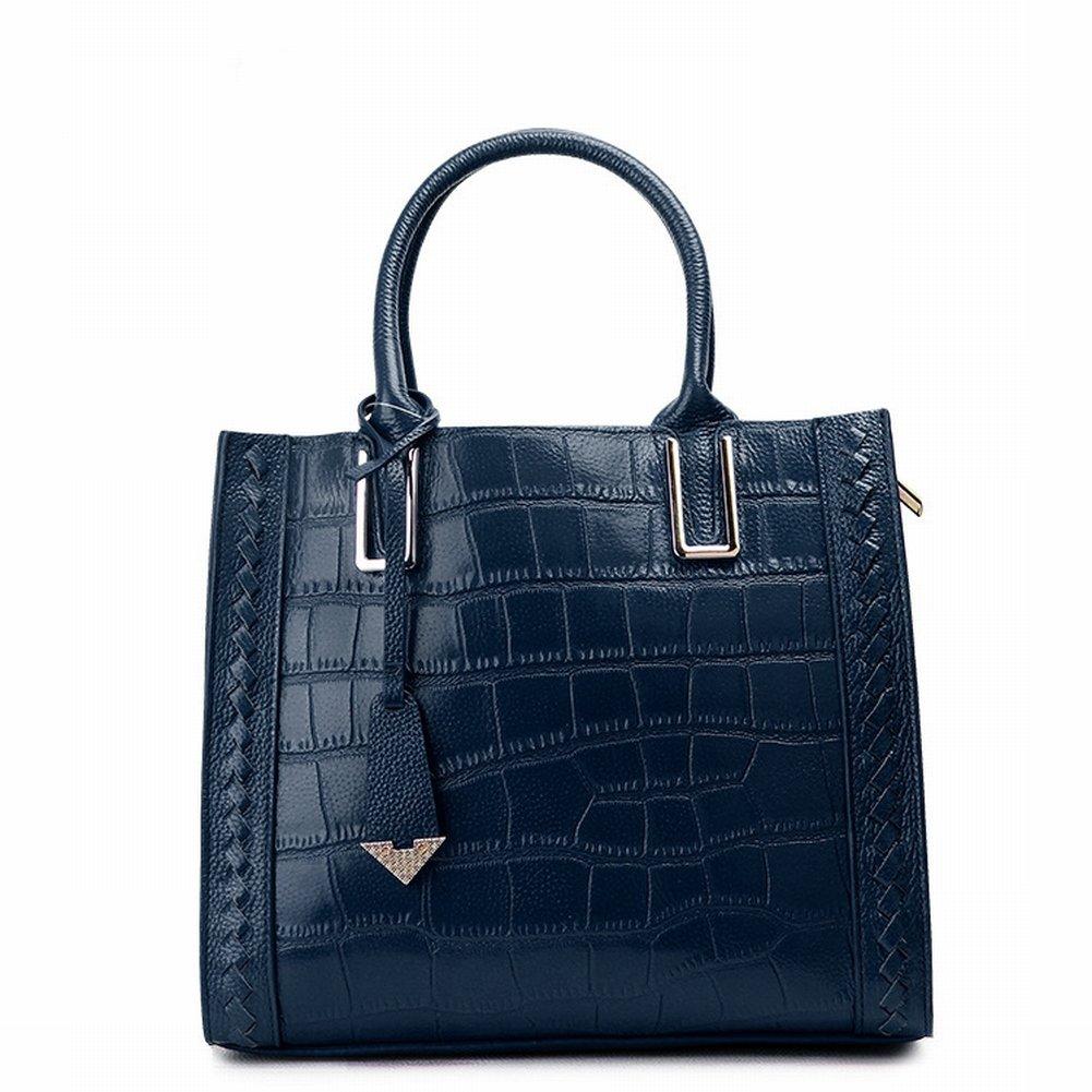 Fashion Handtaschen Krokodilmuster Leder Schulter Diagonal Handtasche Handtasche Fabrik , Dunkelblau