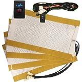 Besond 車のシートヒーター,2-dial 5-level 長方形スイッチ,2 シート インストール,炭素繊維,ユニバーサル,ベスト 品質
